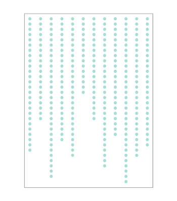Park Lane A2 Embossing Folder-Hanging Dots