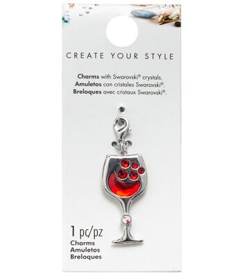 Swarovski Wine Glass Charm