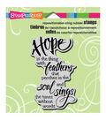 Stampendous Cling Rubber Stamp 3.5\u0022X4\u0022 Sheet-Hope Sings