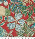 Robert Allen @ Home Print Swatch 55\u0022-Mixed Motifs Coral