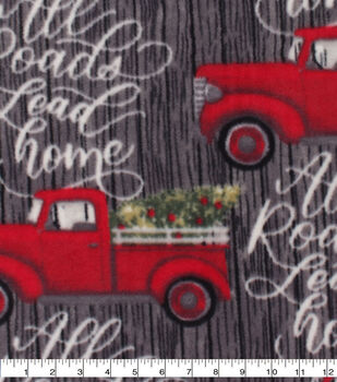 Christmas Anti-Pill Plush Fleece Fabric-All Roads Lead Home