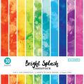 Colorbok 78lb Single-Sided Cardstock 12\u0022X12\u0022-Watercolor Splash, 15 Des