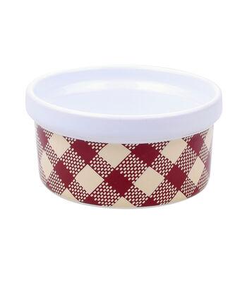 Simply Autumn Ramekin Bowl-Plaid