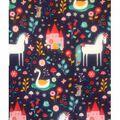 Doodles Juvenile Apparel Fabric 57\u0027\u0027-Unicorn & Garden