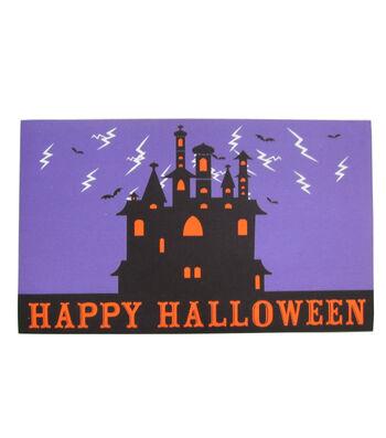 Maker's Halloween Rubber Doormat-Happy Halloween