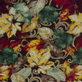 Harvest Cotton Fabric-Scroll Leaves On  Brown
