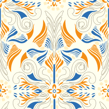 Watercolor Damask 3