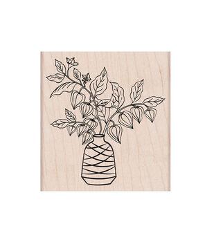 Hero Arts Mounted Rubber Stamp Floral Vase