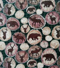 Anti-Pill Plush Fleece Fabric-Everest Animals On Birch