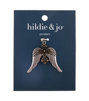 hildie & jo Zinc Alloy & Iron Cross Wing Pendant, , hi-res