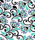 Snuggle Flannel Fabric -Lily Flowers