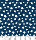 Nursery Cotton Fabric-Navy White Stars