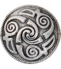 Spiral Concho W/Screwback 1\u0022 1/Pkg-Lindesfarne Spiral Celtic Design