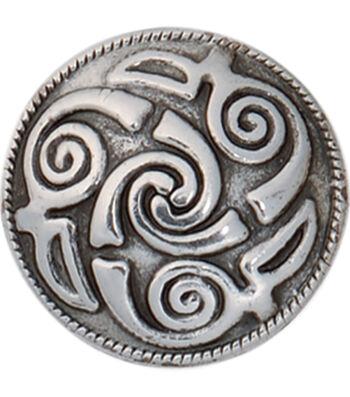 """Spiral Concho W/Screwback 1"""" 1/Pkg-Lindesfarne Spiral Celtic Design"""