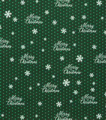"Holiday Showcase Christmas Cotton Fabric 43""-Merry Christmas"