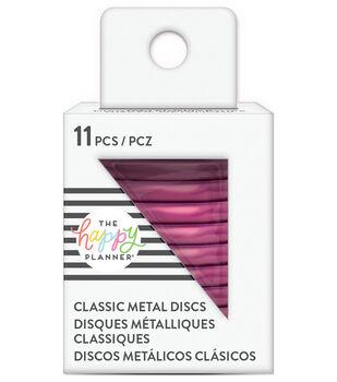 The Happy Planner Classic Metal Discs-Hot Pink