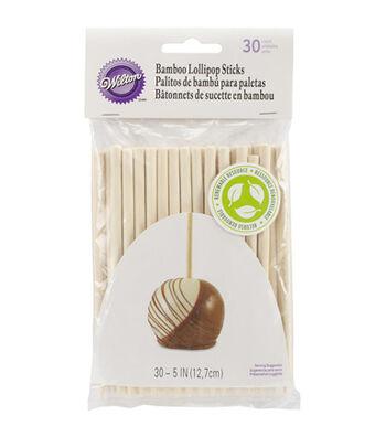 "Wilton Bamboo Lolli Sticks 5"" 30/Pkg"