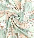 Nursery Flannel Fabric 44\u0027\u0027-Patch Quilt Woodland