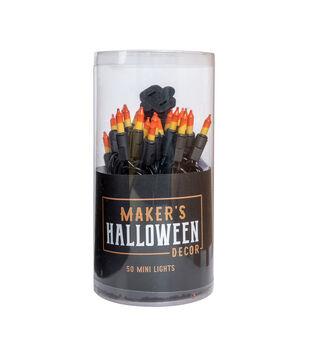 Maker's Halloween Decor 50 ct Candy Corn Mini Basic String Lights