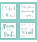 Hampton Art 12X12 Stencils-Wedding