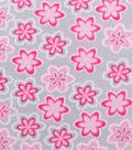 Anti-Pill Fleece Fabric 59\u0022-Pink Flowers