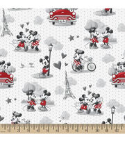 Disney Mickey & Minnie Mouse Cotton Fabric 44''-Vintage Romance, , hi-res