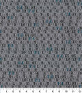 Novelty Cotton Fabric-Measuring Tape on Gray