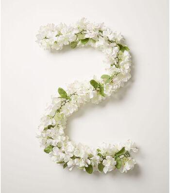 Fresh Picked Spring 66'' Hydrangea Chain Garland-White & Pink