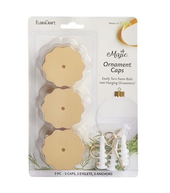 Maker's Holiday Craft Majic Ornament Caps-Gold