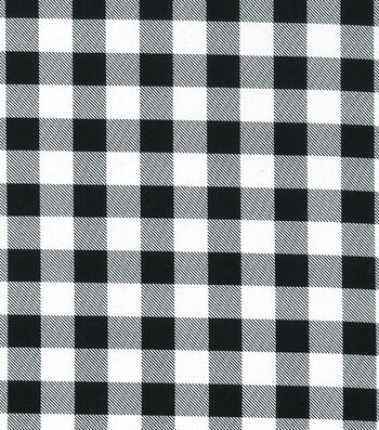 Christmas Cotton Fabric-Black & White Buffalo Check
