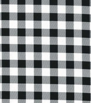 Christmas Cotton Fabric-Black & White Buffalo Checks