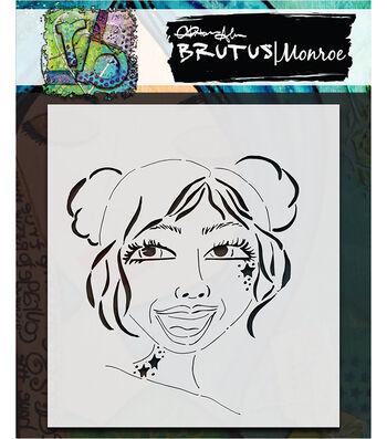 Brutus Monroe Mixed Media 6''x6'' Stencil-Diva