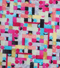 Modern Cotton Fabric -Bright Mini Packed Shapes
