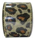 Decorative Ribbon 2.5\u0027\u0027 X 15\u0027-Leopard Burlap