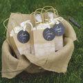 David Tutera Casual Elegance Kraft Bags w/Lace Edge Print