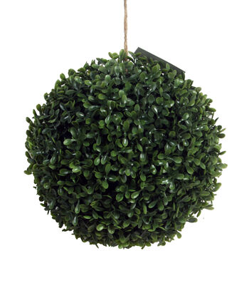 Bloom Room Large Soft Touch Boxwood Kissing Ball-Green