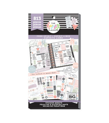 The Happy Planner 813 pk Stickers-Free Spirit