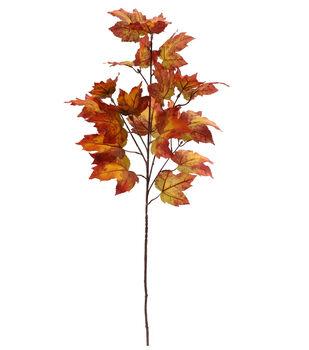Blooming Autumn 37'' Maple Leaf Spray-Burgundy & Orange