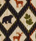 Snuggle Flannel Fabric -Autumn Animals & Aztec