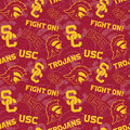 University of Southern California Trojans Cotton Fabric-Tone on Tone
