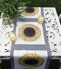 Square By Design-Sunflower 25\u0022 Woven Square