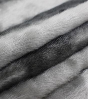 """Fashion Faux Fur Fabric 57""""-Grey Pelt"""