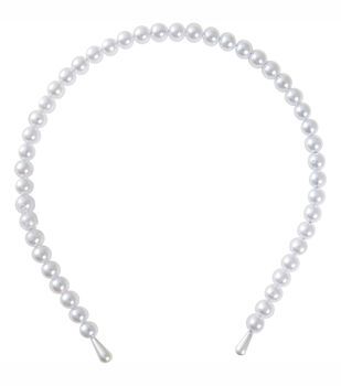 Headband Pearl Stand White