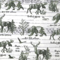 Anti-Pill Plush Fleece Fabric-Love The Outdoors Deer