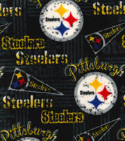 Pittsburgh Steelers Fleece Fabric -Retro, , hi-res