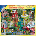 White Mountain Puzzle 18\u0027\u0027x24\u0027\u0027 Jigsaw Puzzle-Birdhouse Village