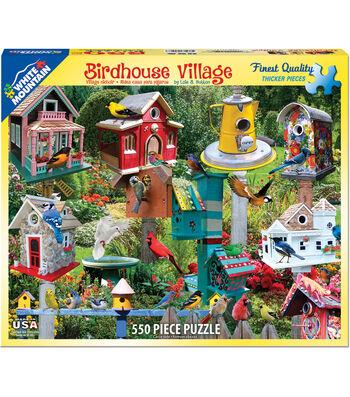 White Mountain Puzzle 18''x24'' Jigsaw Puzzle-Birdhouse Village
