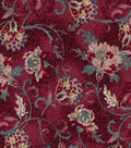 Vintage Cotton Fabric -Jacobean on Red
