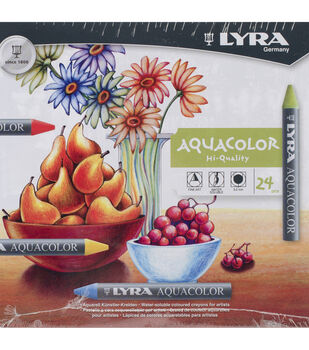 Lyra Aquacolor Water-Soluble Crayons 24pk-Assorted Colors