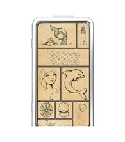 Spellbinders Jane Davenport Stamp Tin Set-Mermaids, , hi-res